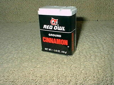 Vintage Red Owl Grocery Food Store Ground Cinnamon Spice Tin Full Not Used