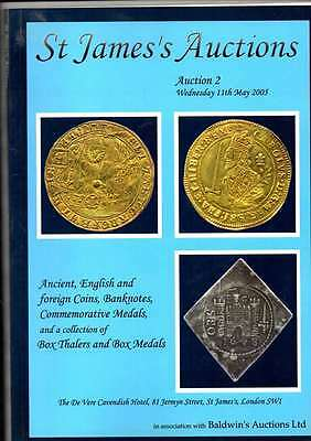 St James Auction Catalogue  May 2005 Ancient English And Foreign Coins Etc Ex