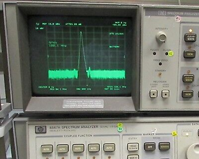 HP / Agilent 8567A Spectrum Analyzer & HP 65662A Display - 10kHz to 1500MHz