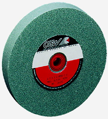 8 x 1 x 1-1/4 Green Silicon Carbide Bench Grinding Wheel 100 Grit CGW 35053