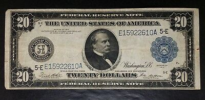 1914 $20 Blue Seal Federal Reserve Large Note