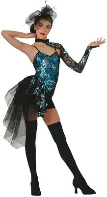 Costume Gallery Under the Lights Dance Turquoise Style 15616-32 Adult Size M
