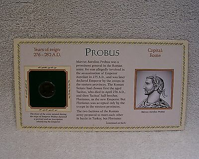 Coinage of Ancient Roman Emperor - Probus  276-282 A.D.  Genuine Bronze Coin