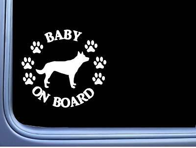 "Baby on Board Kelpie L493 6"" Sticker decal"