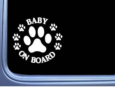 """Baby on Board Dog Rescue L498 6"""" Sticker decal"""