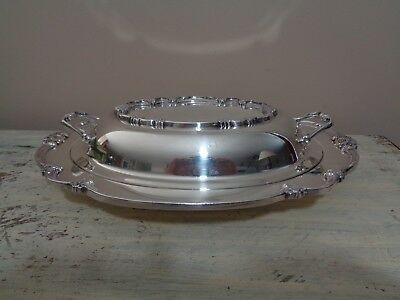 """Remembrance Silverplate Double Vegetable Bowl 9812 International Silver 13 1/4"""""""