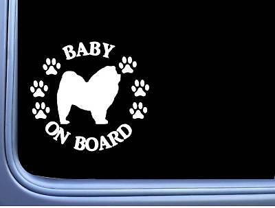 """Baby on Board Chow Chow L508 6"""" Sticker dog decal"""
