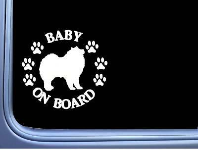 "Baby on Board Samoyed L532 6"" Sticker dog decal"