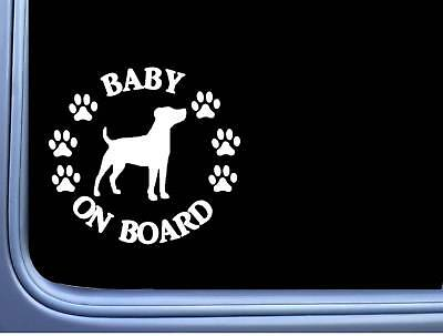 "Baby on Board Jack Russell L550 6"" Sticker dog decal"