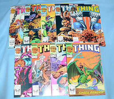 The Thing - Marvel - 1983 - #3, 4, 5, 6, 7, 8, 9, 10 and 11 - All Near Mint!