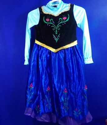 Disney Frozen Anna Halloween Costume Little Girl Size Small 4-6 Preowned