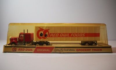 Vintage Red Owl Foods Delivery Semi Trailer Truck Grocery Original Packaging