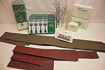 Lot of Dept Department 56 Collectables VILLAGE ACCESSORIES (Trees Lights Roads+)