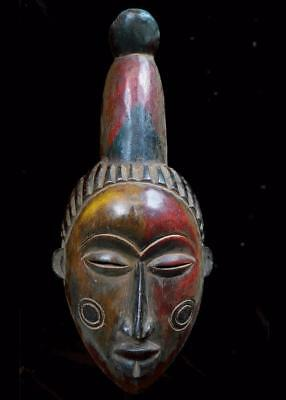 Outstanding Tribal Anang Polychrome   Mask   ---  Nigeria  BN 12