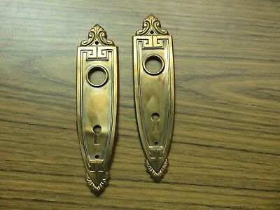 Vintage Ornate Art Deco Pair of Door Knob Back Plates Lot A
