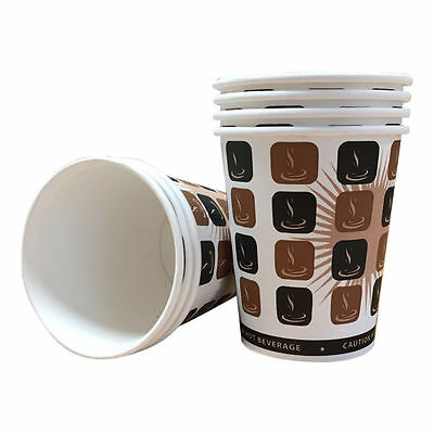 Mocha Hot Drinks Paper Cups Coffee Takeaway Catering Disposable + Lids
