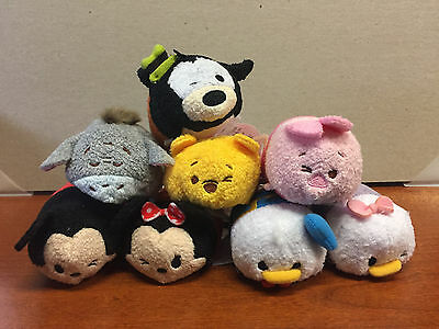 Lot of 8 Disney Tsum Tsums - Mickey, Minnie, Donald, Daisy, Goofy, Pooh, etc