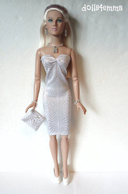 Tonner TYLER Doll Clothes Sexy DRESS & PURSE & JEWELRY HM Fashion NO DOLL d4e