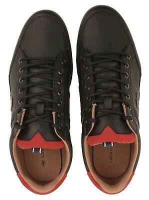 31ad68333f8d93 LACOSTE MENS SHOES Chaymon 118 2 Blk Leather Casual Fashion Sneaker ...