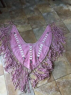 Women's Red Clay People Native American Deerskin Shawl/Wrap