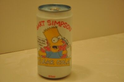 "RARE 1991 BART SIMPSON ""CLEAR COLA"" SODA CAN from AUSTRALIA"