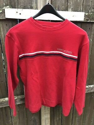 Vintage 90s Tommy Hilfiger Spell Out Mens Medium Long Sleeve Cotton Shirt