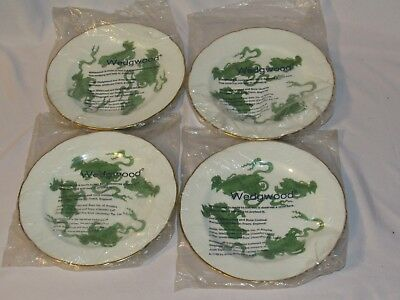 """Set of 4 Wedgwood Chinese Tiger Salad Bread Plates - 8 1/4"""" Lot 1"""