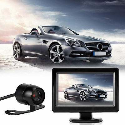 "4.3"" TFT LCD Car Rear View System Monitor Backup Reverse Camera Kit Night Vision"