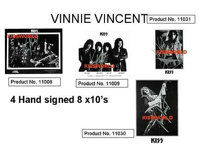 Kiss - Vinnie Vincent Rare Hand Signed Kissworld 8 X 10's With Coa New $90 Each