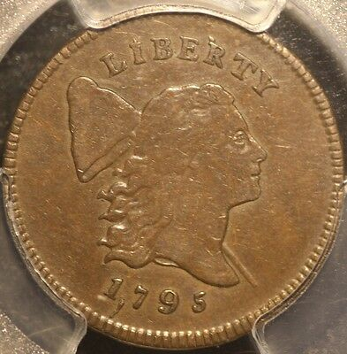 Superb 1795 Lettered Edge/punctuated Date Half Cent, Pcgs Xf40, 3-Day Return