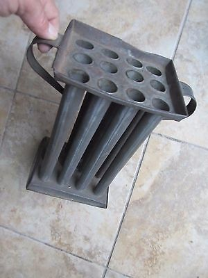 THE FINEST LG 2-HANDLE 12 TUBE COLONIAL 1790 Tin Candle Mold, Americana, GIFT !!