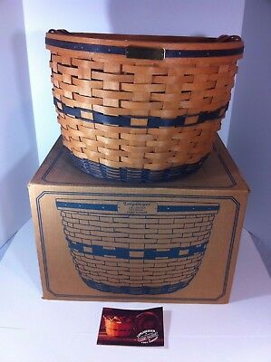 Longaberger Corn Basket JW Collection 1991 16.5 x 11.5 with Box & Protector
