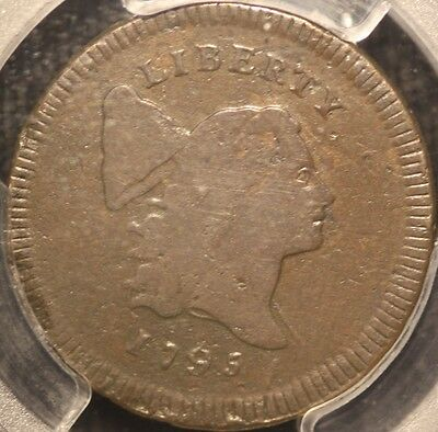 Rare 1795 Lib. Cap Half Cent, C-1 Lettered Edge Variety, Pcgs Vg10, 3-Day Return