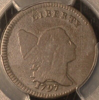 Very Rare 1797 Low Head Lettered Edge Half Cent, C3B-R4, Pcgs G4, 3-Day Return
