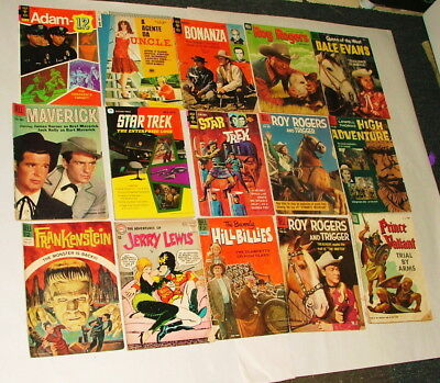 %  1960-70's Cowboy And Tv Show  Comic Book Collection Lot P-13