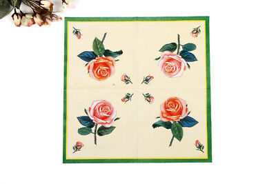 20pcs/pack Paper Napkin Chinese Style Flower Series Virgin Wood 33X33CM 2ply