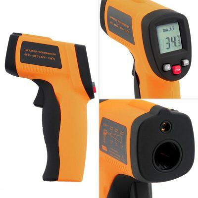 Handheld Digital Laser Non-Contact Infrared Digital Thermometer LCD Display AS
