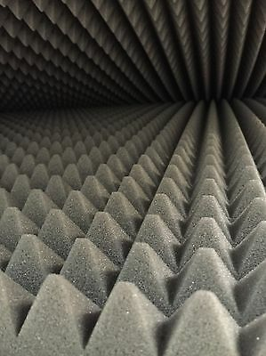 1m x 2m x 50mm Acoustic Foam Sound Absorption Proofing Home Theatre - Pyramid