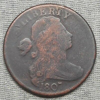 1807 Draped Bust Large Cent - Rotated Reverse