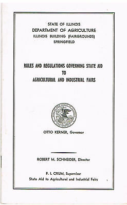 1960s Illinois RULES for Agricultural & Industrial FAIRS