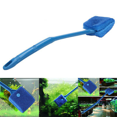 New Aquarium Fish Tank Algae Cleaner Glass Scraper Brush Plant Easy Cleaning