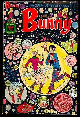 Bunny #10 High Grade Harvey File Copy Giant Teen Humor Comic 1969 VF+
