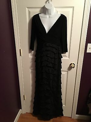 Adrianna Papell Black Mother of the Bride Groom Formal Dress Women's Size 6