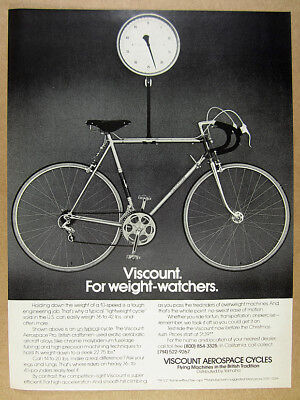 1975 Viscount Aerospace Pro Bicycle 10-speed bike photo vintage print Ad