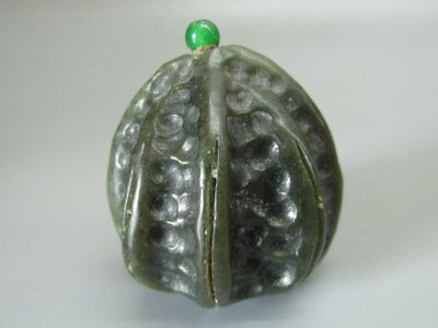Chinese Xinjiang Jade Carved kernel Shape Snuff Bottle