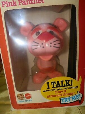Mattel Chatter Chums Pink Panther MIB-Cool Looking Toy!