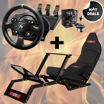 F-GT Racing Simulator Cockpit + Thrustmaster TX Leather Edition +TH8A Xbox One