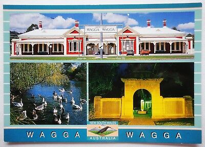 WAGGA WAGGA  NSW multi - Scancolor - unused large postcard