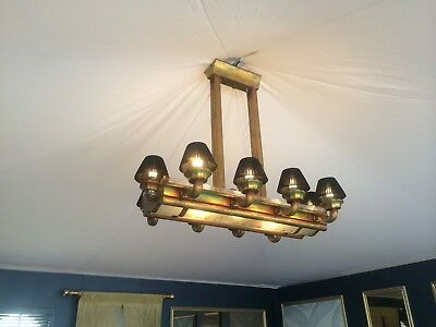 French Art Deco Rectangular Chandelier