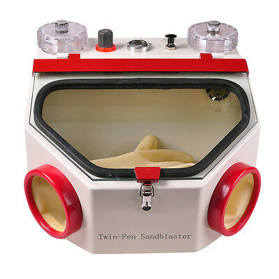 New Dental Double Pen Fine Sandblaster Unit polish surface porcelain crown Teeth